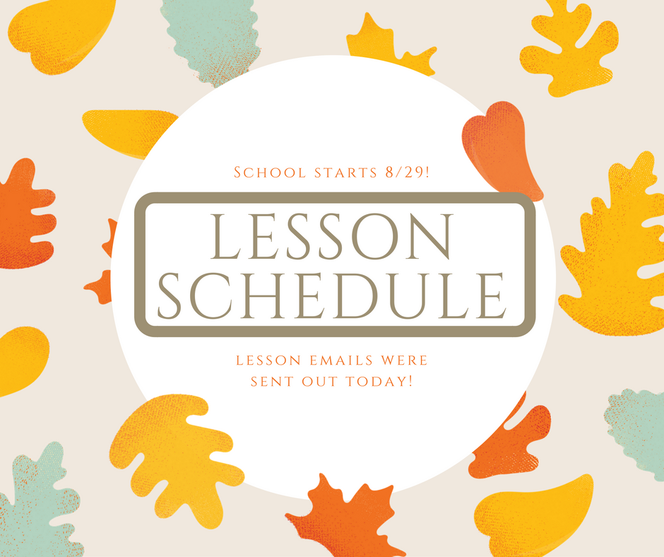 Fall Lessons